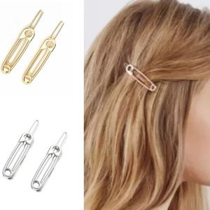 Accessories - 🎀3/$23🎀 Safety Pin Hair Clips 2x